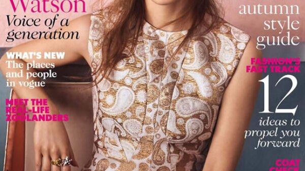 Elle UK eligió a Emma Watson en un vestido de Stella McCartney para la portada de septiembre.