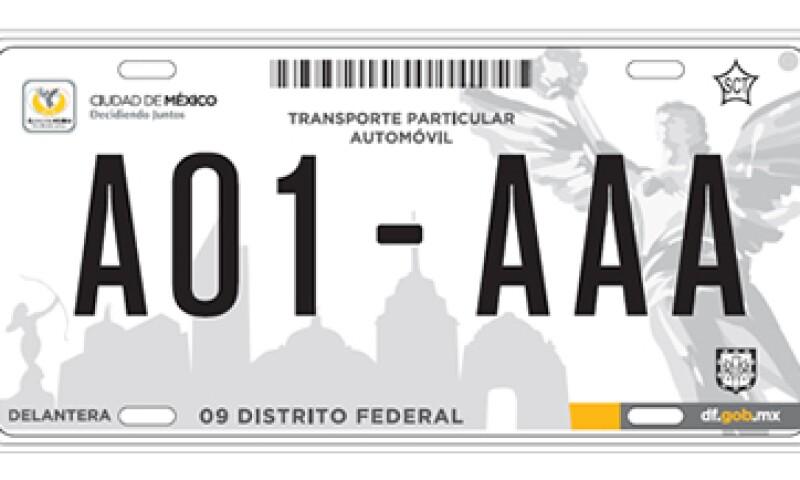 Las placas mantendrán un costo de 577 pesos. (Foto: Cortesía GDF )