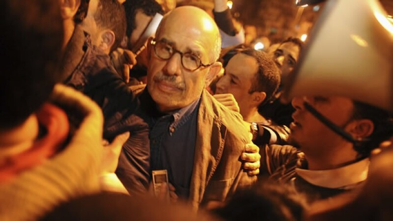 lider opositor llega la plaza tahrir