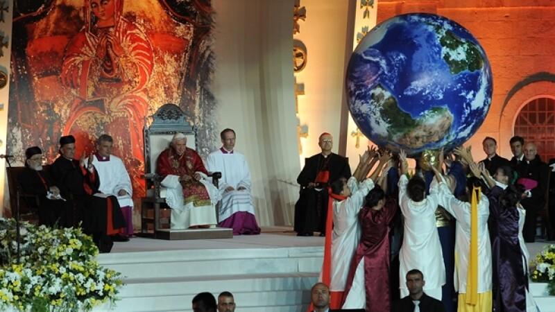 papa benedicto xvi en Líbano