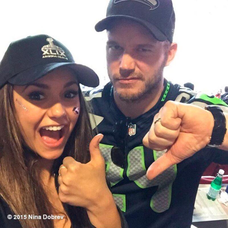 Nina también festejó que su equipo fuese el ganador.