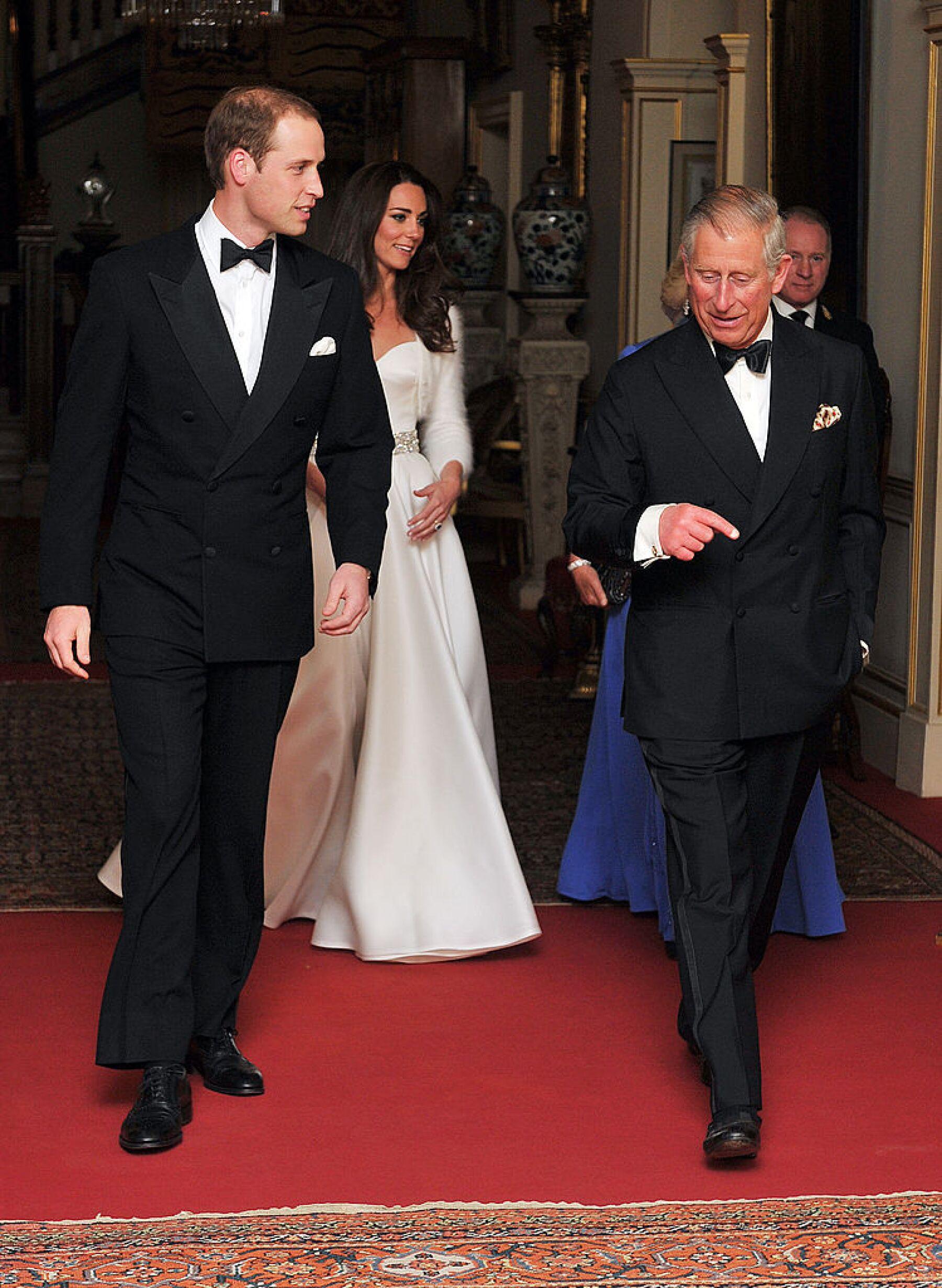 Príncipe William, Kate Middleton y el príncipe Carlos