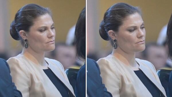 A cuatro semanas de haber dado a luz a su segundo hijo, la princesa parece no tener descanso, pues durante una conferencia cierra los ojos en más de una ocasión.