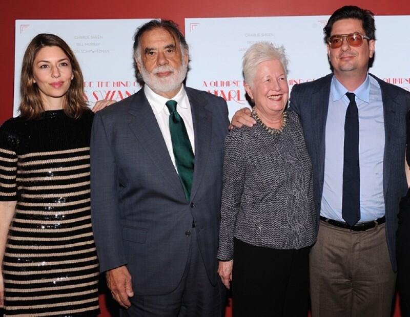 Sofia Coppola, Francis Ford Coppola, Eleanor Coppola y Roman Coppola
