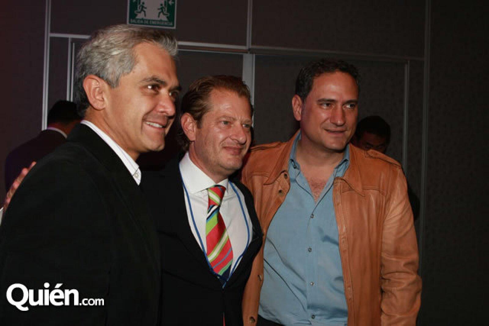 Miguel Ángel Mancera, Leopoldo Hirson y Alejandro Soberón