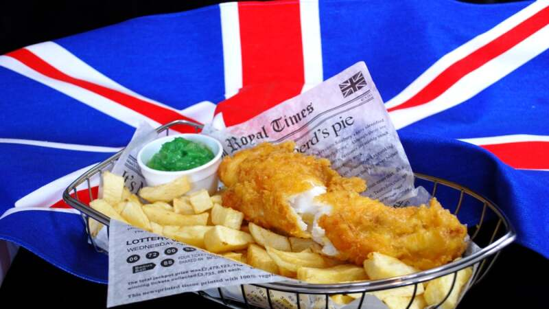 'fish and chip' de Reino Unido