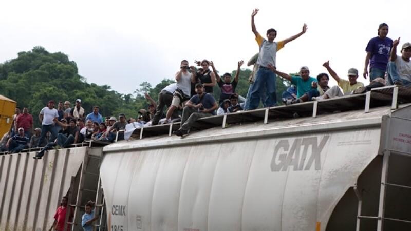 La bestia, migrantes, inmigrantes, centroamericanos