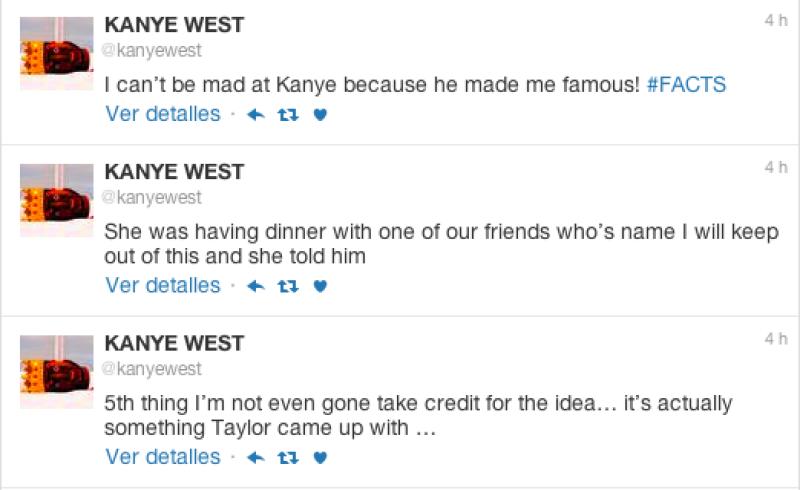 Kanye dice que Taylor ya sabía de la letra antes de ser lanzada.