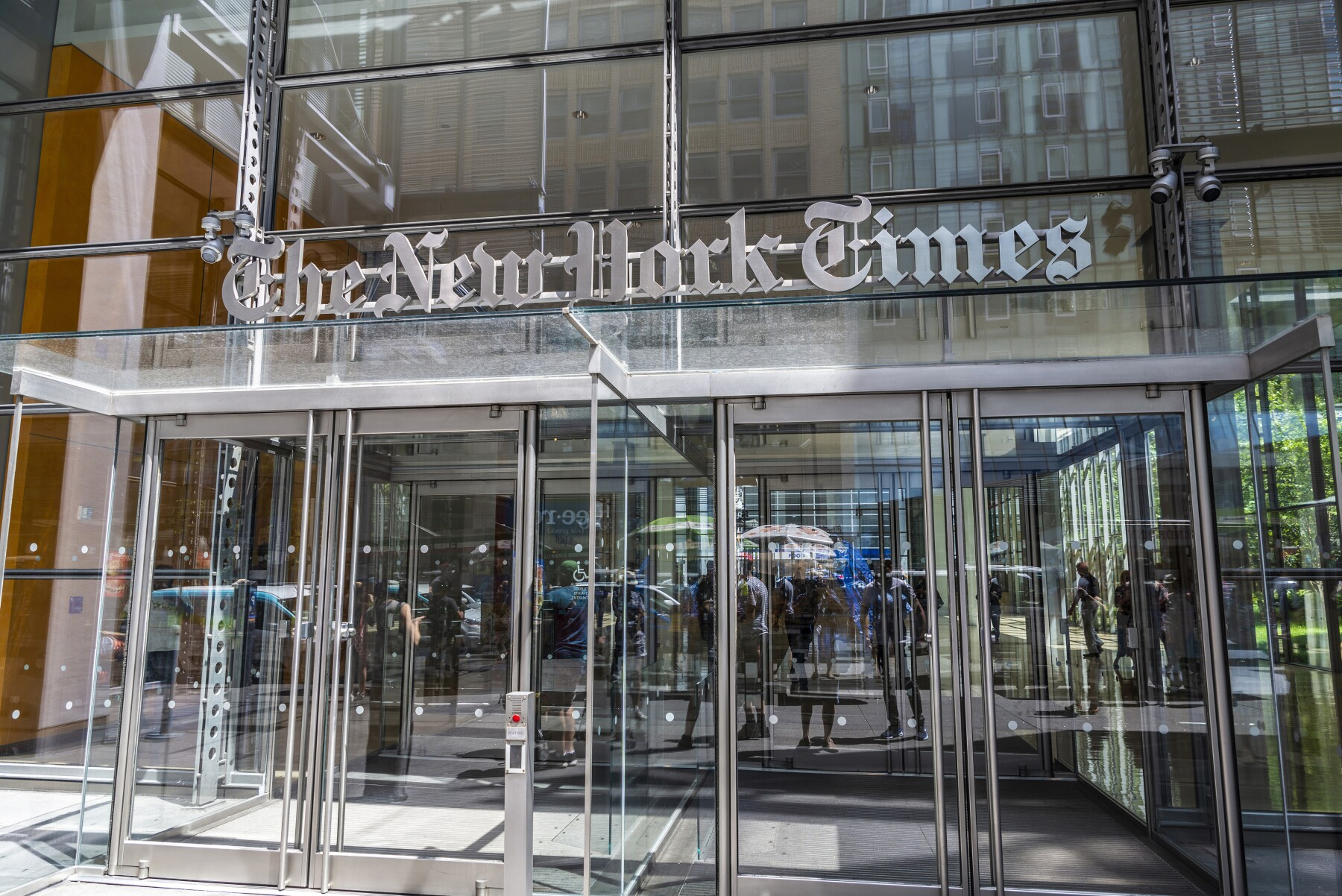 The New York Times headquarters in New York City, USA
