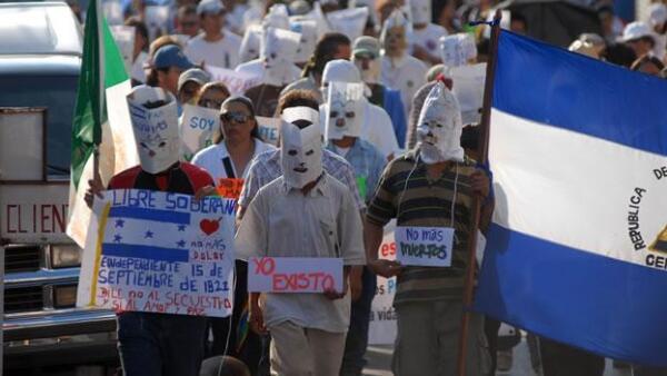 Marcha en repudio al a matanza en Tamaulipas