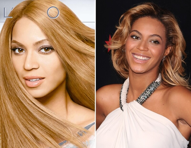 Cuando este anuncio de L´Oreal salió a la luz, el público notó a Beyonce un poco distinta.