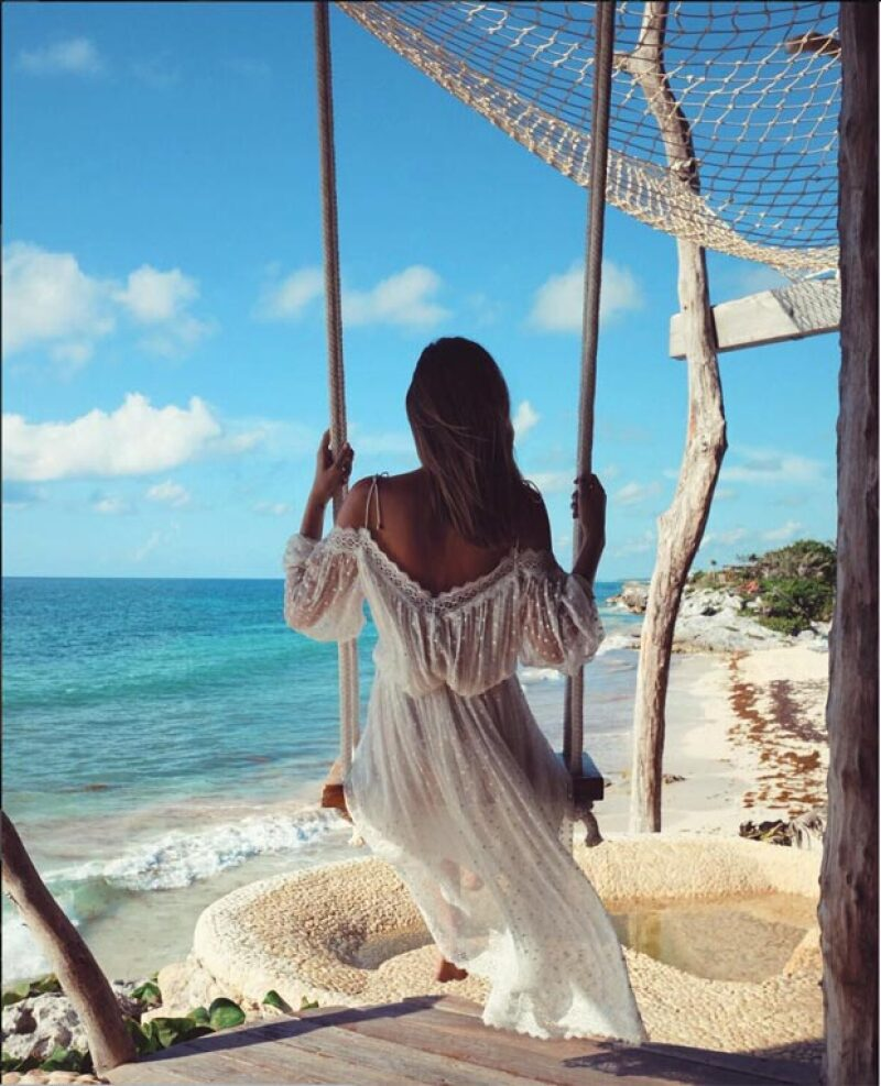 La blogger Tuula Vintage disfrutó sus vacaciones en el hotel Azulik.