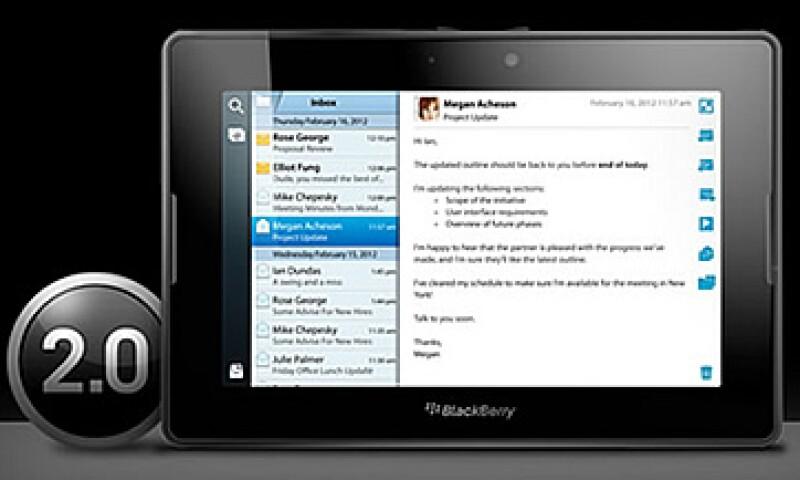 Los poseedores de la PlayBook recibirán la actualización de manera gratuita con tan sólo conectarse vía Internet a los servidores de RIM.  (Foto: Cortesía RIM)