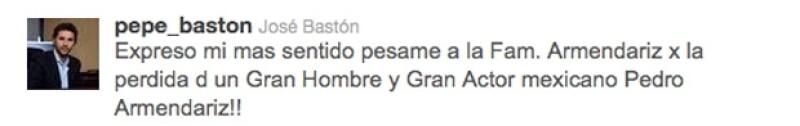 José Bastón también envió sus condolencias.