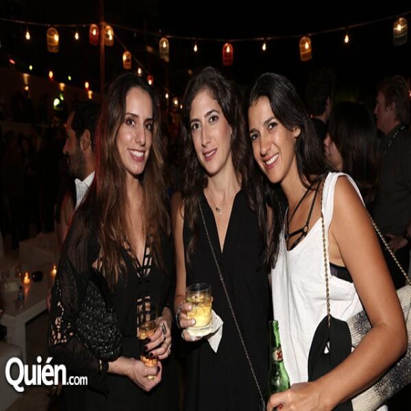Sara Hernández, Alejandra Gómez y Andrea Torres