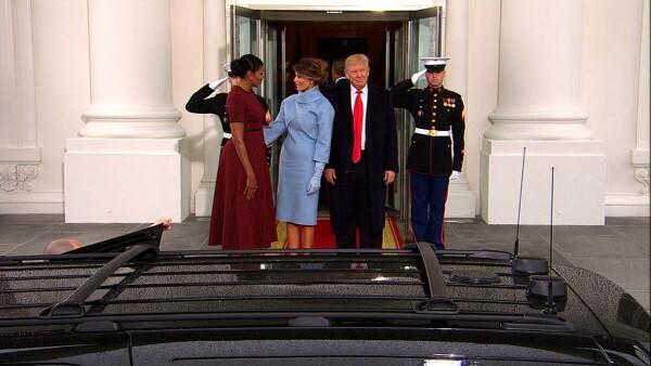 Así recibe Obama a Trump en la Casa Blanca