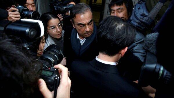 FILE PHOTO: Former Nissan Motor Chairman Carlos Ghosn leaves his lawyer Junichiro Hironaka's office in Tokyo