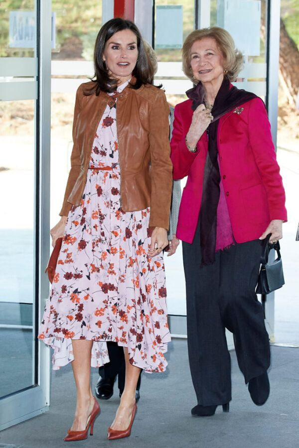 Reina Letizia y la reina Sofía