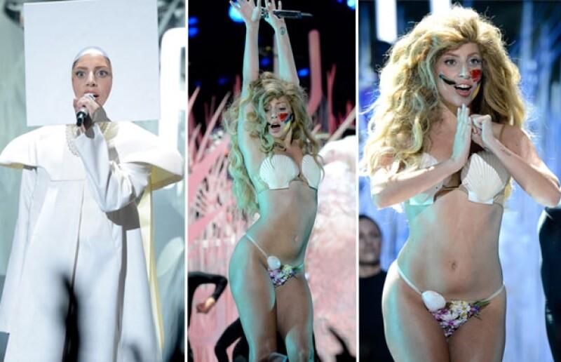 La figura de Gaga robó todas las miradas.