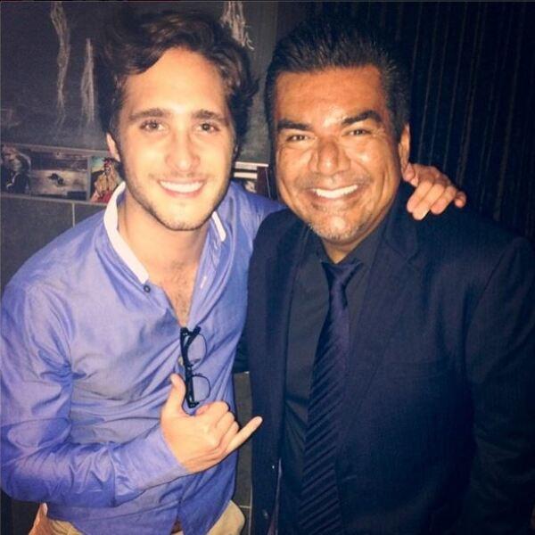 Diego Boneta y George Lopez.