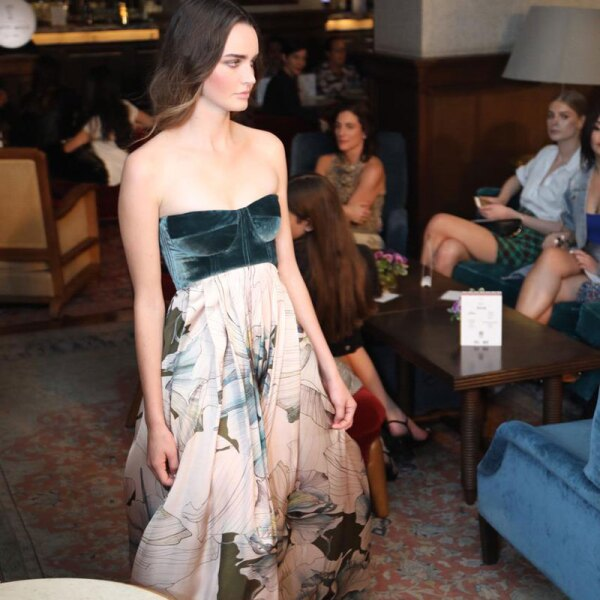Sandra-Weil-MBFWMX-Runway-Velvet-and-Floral-Dress