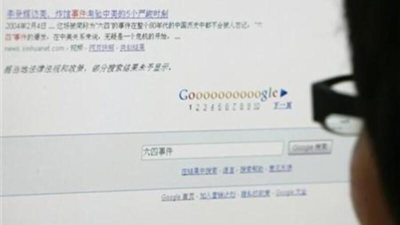 Un usuario de internet chino busca información en Google