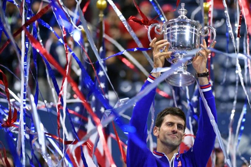 Novak Djokovic logra con el triunfo en el US Open ganar 10 Grand Slams en su carrera.