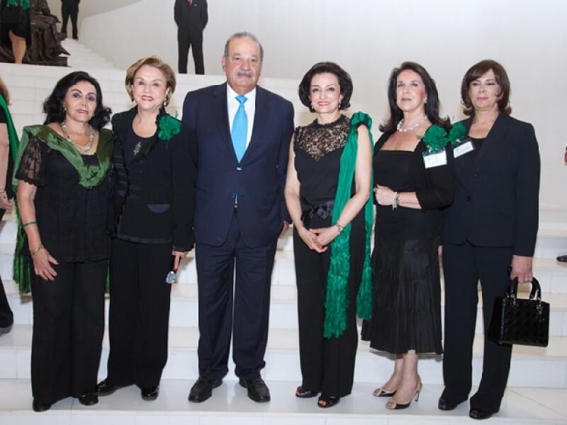 Silvia García de Alba de Rojo Lugo, Rosario Gómez de Sandoval, Carlos Slim, Alexandra de Quintana, Dulce María Zazueta de Martínez Gama, Magdalena Kuri Harfush