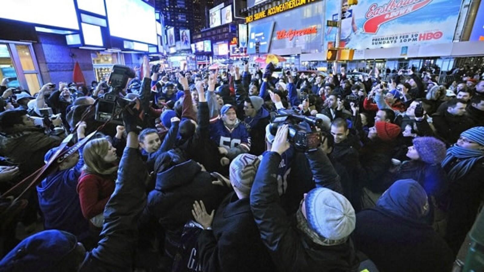 celebracion gigantes festejos super bowl nueva york