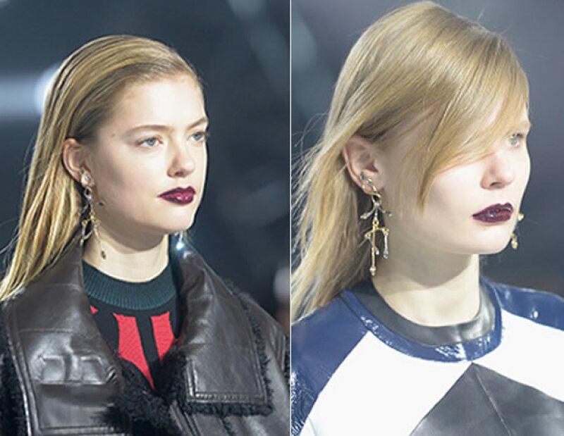 Los dark lips son un estilo increible para los rostros de las modelos.