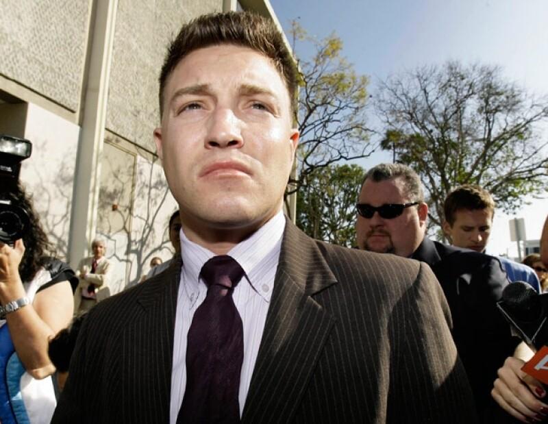 Lane Garrison fue detenido por la Policía de Los Ángeles por los cargos de violencia doméstica y también por violación de libertad condicional.