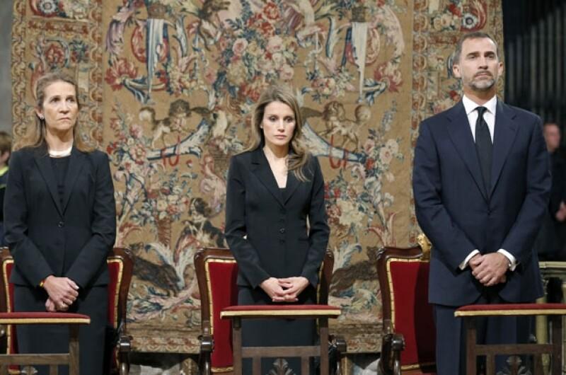 Letizia y Felipe encabezaron la ceremonia.