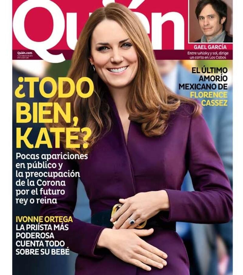 En la nueva edición de la revista Quién se revela por qué la esposa del príncipe Guillermo ha estado tan ausente del ojo público.