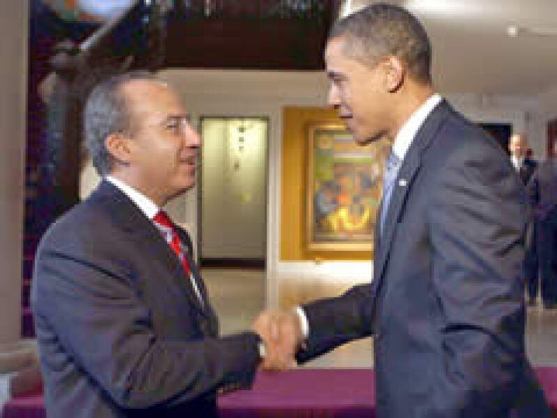 Calderón es el primer presidente extranjero que se reúne con Obama. (Foto: Notimex)