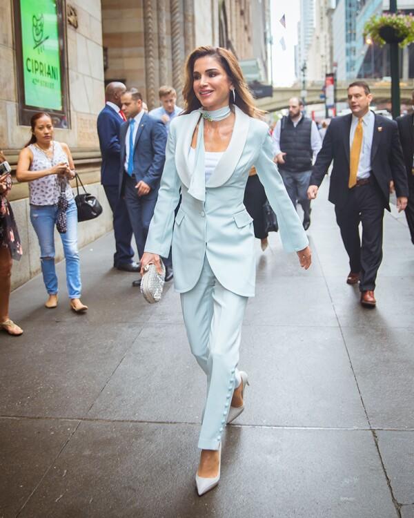 Queen Rania of Jordan visit to New York, USA - 28 Sep 2018