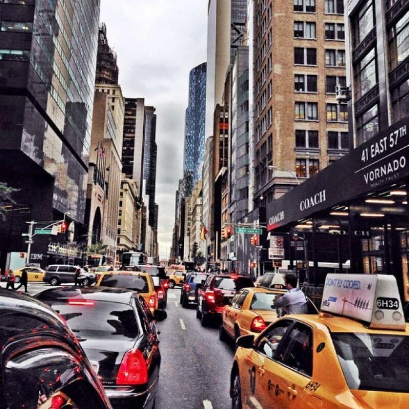 Así era la vista del tráfico antes de que la pareja decidiera tomar otra opción de movilidad.