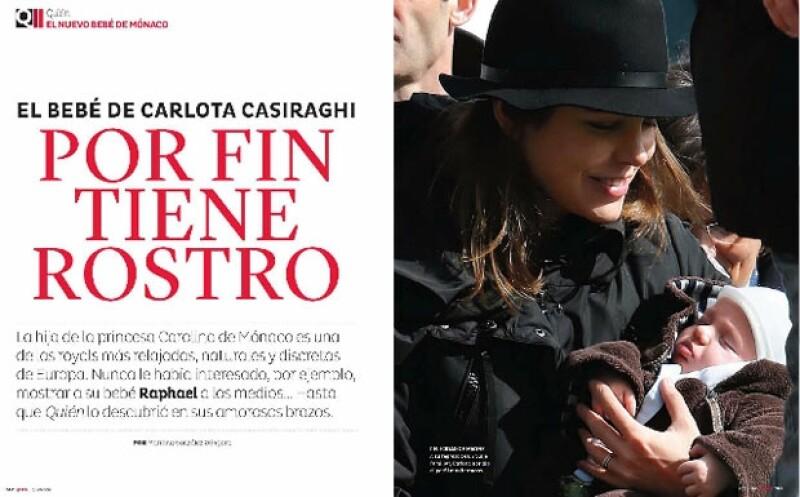 Raphael es el primogénito de Carlota Casiraghi.