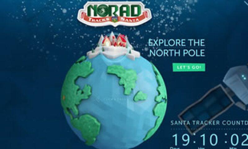 Sigue la pista de tus regalos a través de Internet. (Foto: Tomada del sitio NORADSanta.org)
