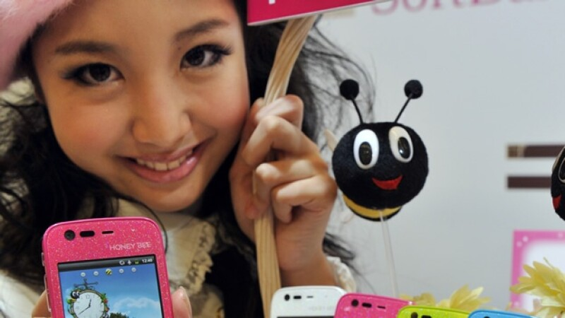 japon sonrisa dentadura smartphone