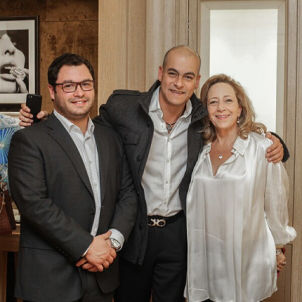 Alfonso Albo,Arnoldo Pérez y Claudia Berger