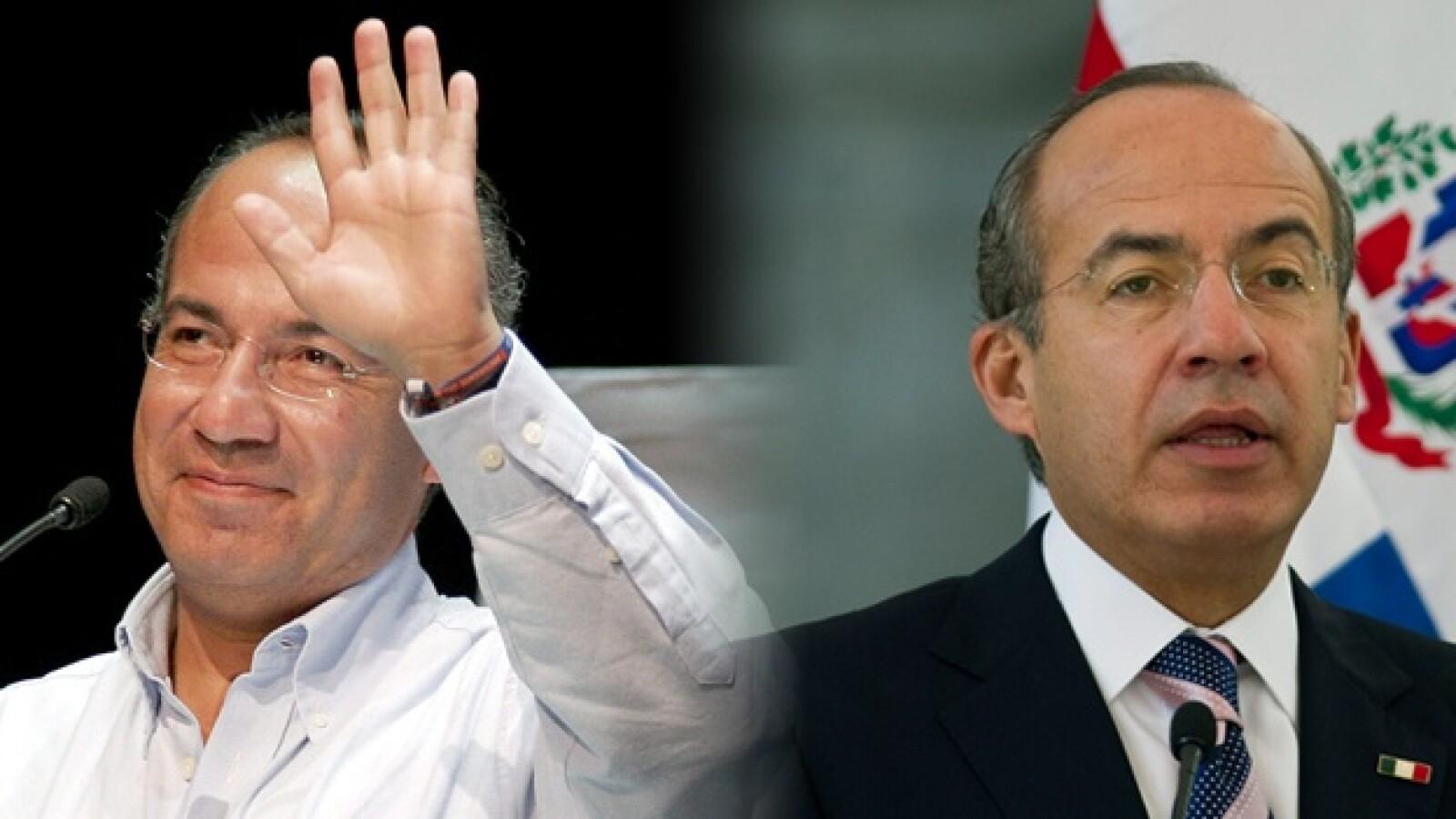 Felipe Calderon antes y despues presidentes