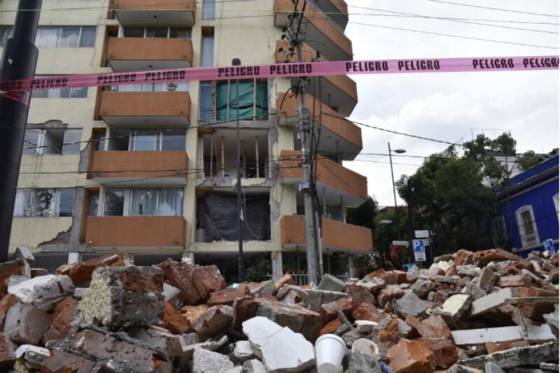 sismo edificio derrumbe cdmx