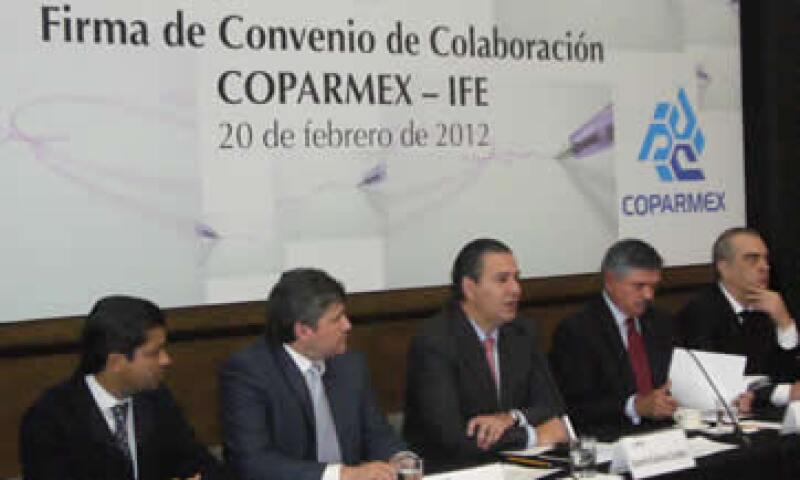 El convenio forma parte del programa de participación cívica 'Votaremos por los Mejores'. (Foto: Cortesía Coparmex)