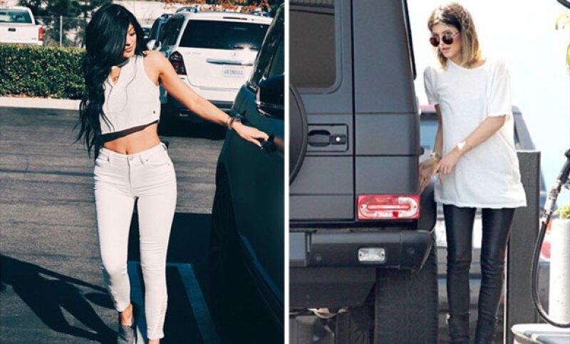 """En comparativa, Kylie luce un mejor cuerpo con estas libras """"de más""""."""