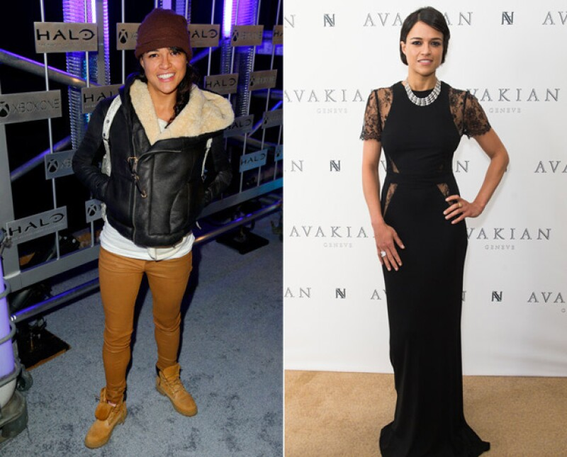 Michelle Rodriguez tomó por sorpresa a Cannes con este elegante y sensual vestido.