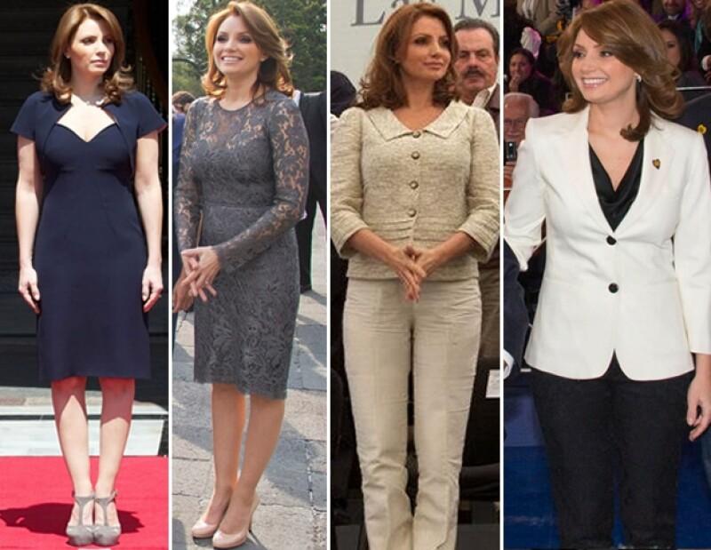 Vestidos a la rodilla son parte de su colección.