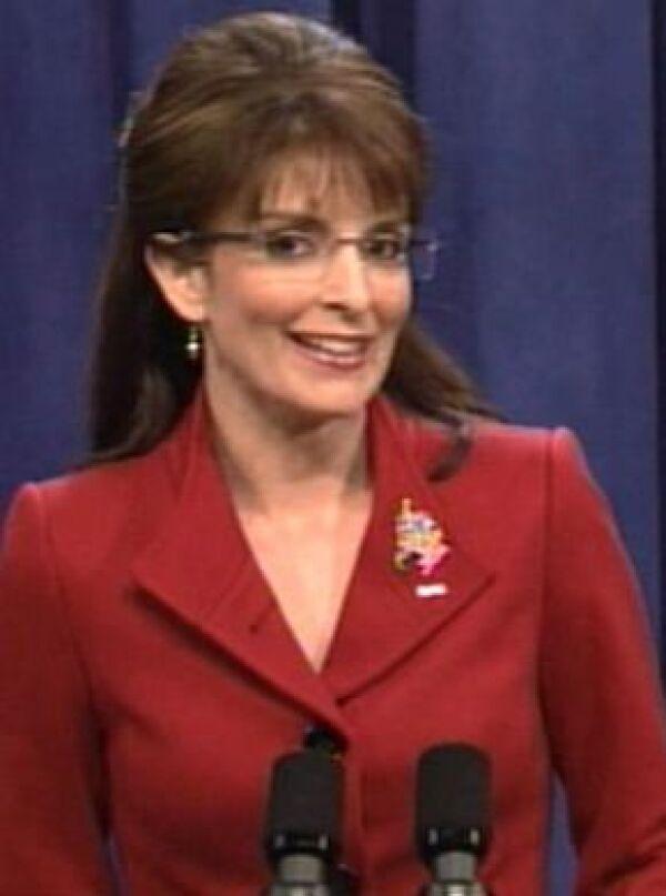 La ganadora del Emmy, Tina Fey, ha hecho una interpretación de Sarah Palin que ha encantado a los estadounidenses.
