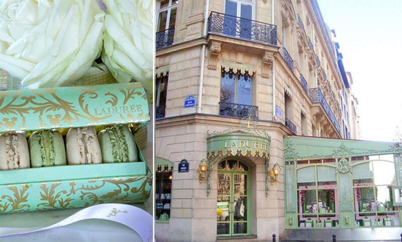 La pastelería es como un museo, aquí en Champs elyseés, París.
