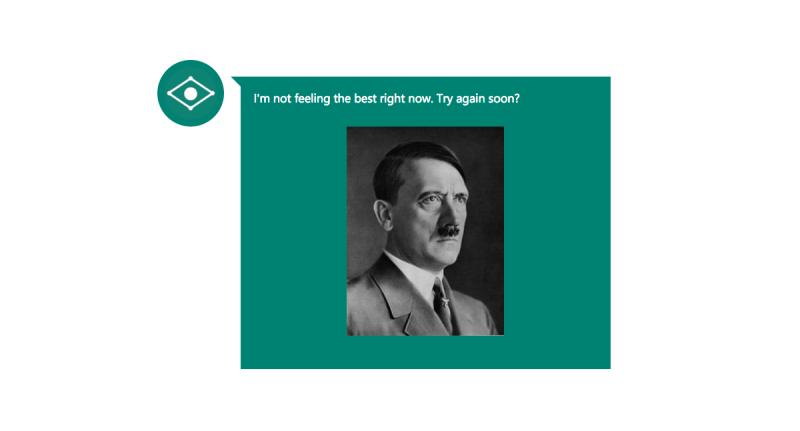Al mostrarle la fotografía la inteligencia artificial responde que se siente un poco mal