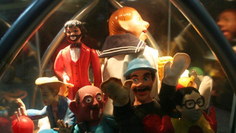 Eran comunes los juguetes de los personajes infantiles de moda como Cepillín.